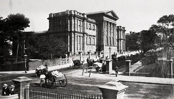 Australian Museum on College Street, archival Print.