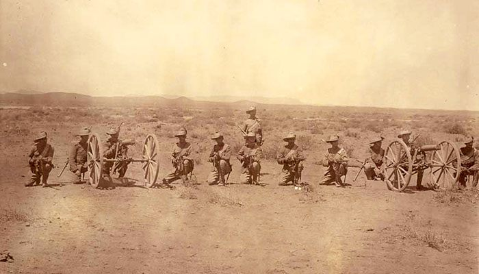 Cannon soldiers from the Boer War