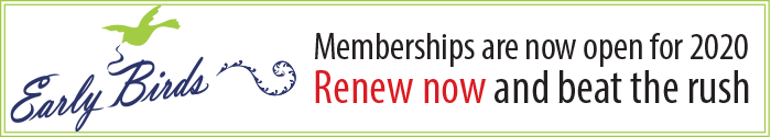 Early Birds membership banner 2020