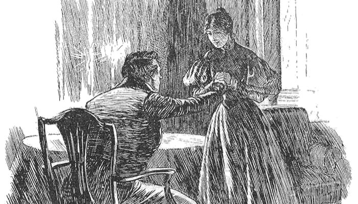 Jane Eyre illustration by FH Townsend 2nd Edition c1847
