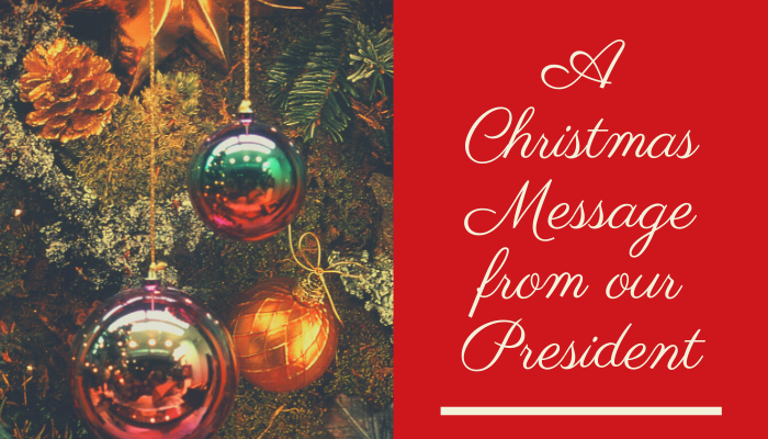 Christmas Message from SMSA President