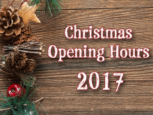 Christmas Opening Hours for 2017