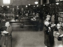 Interior of Sydney Mechanics' School of Arts Library ca. 1920-1936, Sam Hood, courtesy of the State Library of New South Wales - PXA 626 / 1