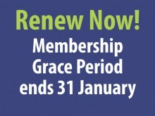 renew your membership before the grace period ends.